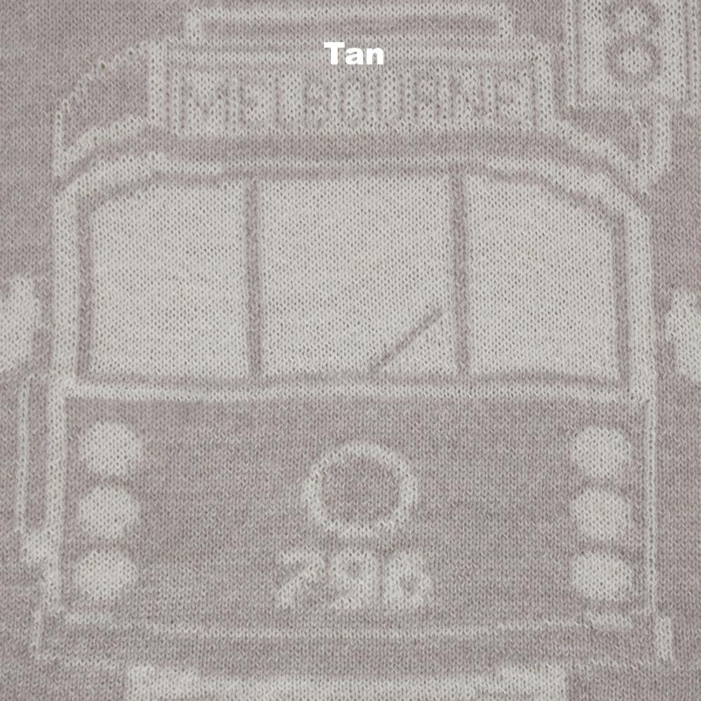 SCARVES - TRAM I AM - MERINO - Tan -