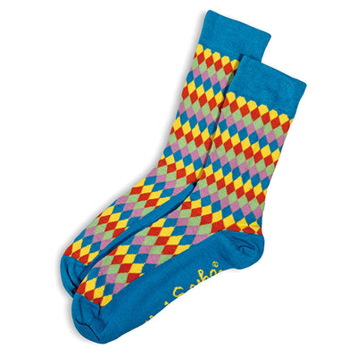 SOCKS - ARGYLISH - AUSTRALIAN COTTON - 2-8 - Teal