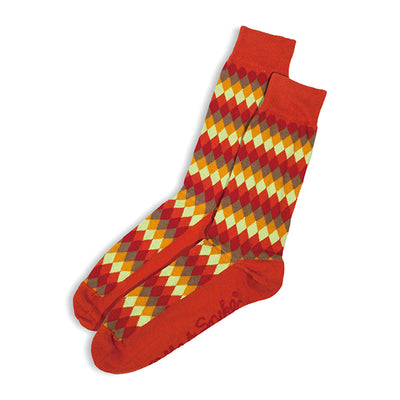 SOCKS - ARGYLISH - AUSTRALIAN COTTON - 2-8 - Rust