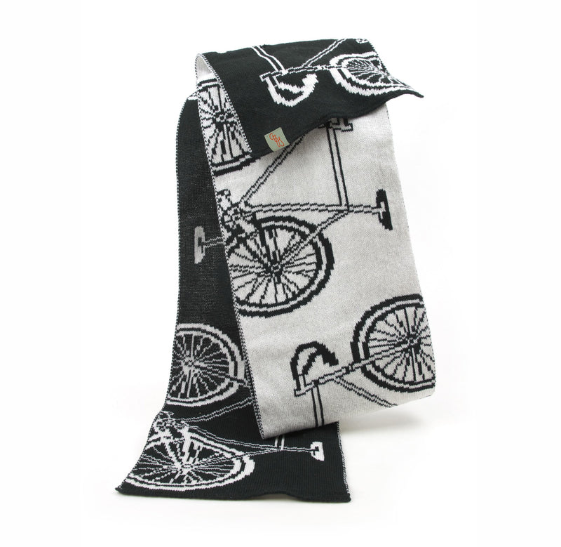 SCARVES - BIKE - MERINO - Black  / Main Image -