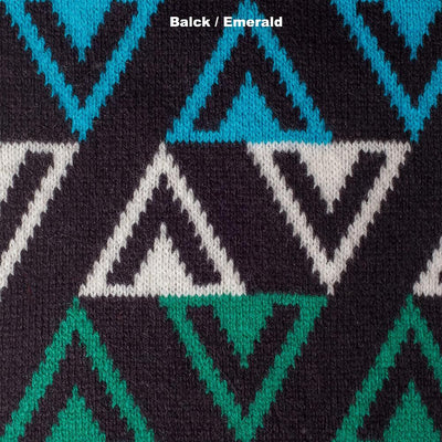 SCARVES - TEE DEE KAY - LAMBSWOOL - Black / Emerald -