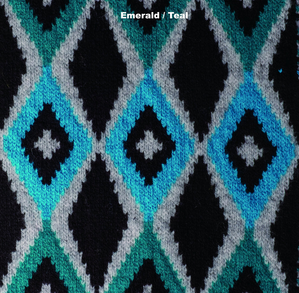 SCARVES - FISH EYE - LAMBSWOOL - Emerald / Teal -