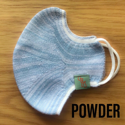 Deluxe Face Mask - REUSABLE - WASHABLE - POWDER BLUE - 1 MASK