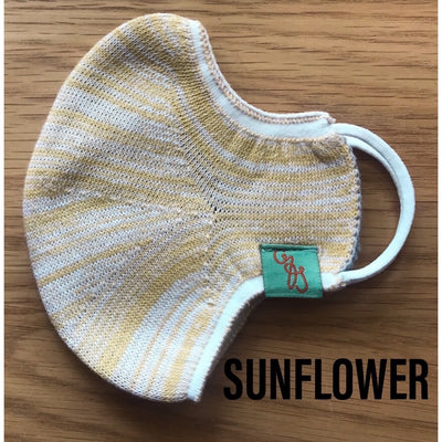 Deluxe Face Mask - REUSABLE - WASHABLE - SUNFLOWER - 1 MASK