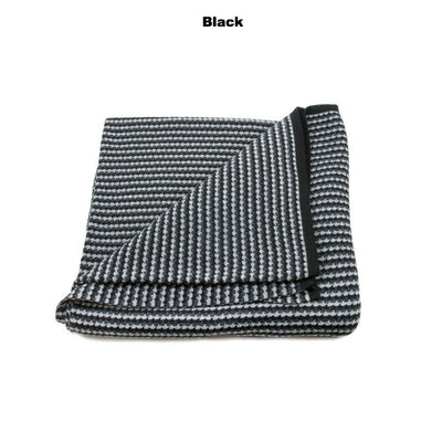 BLANKETS - NANNA'S KNOTS - BABY BLANKETS - Black / Charcoal / Light Grey / Marle - Extra Small