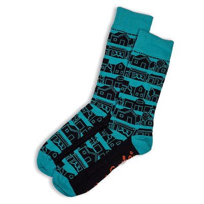 SOCKS - NEIGHBOURHOOD - AUSTRALIAN COTTON - Blue / Main Image - 2-8