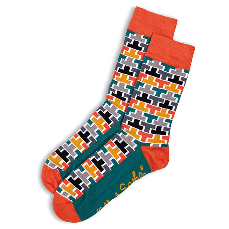 SOCKS - TEE OFF - AUSTRALIAN COTTON - Orange / Main Image - 2-8