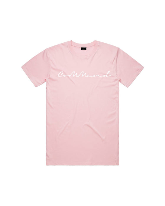 Command - Pink Cursive Tee
