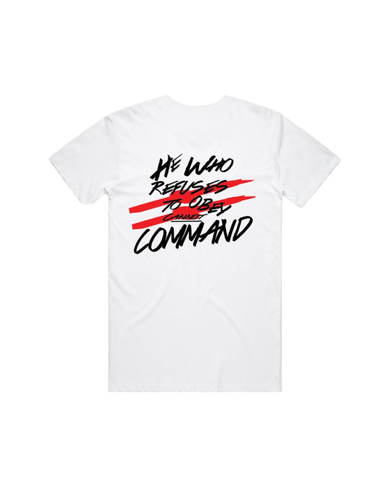 Command - White Obey Tee