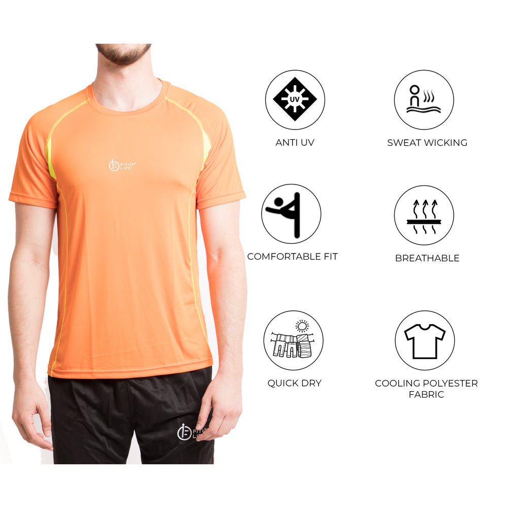 Men Orange T-Shirt