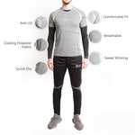 Men Grey T-Shirt - Fitup Life