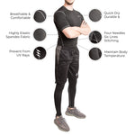 Men Half Sleeve Compression Tshirt - Fitup Life