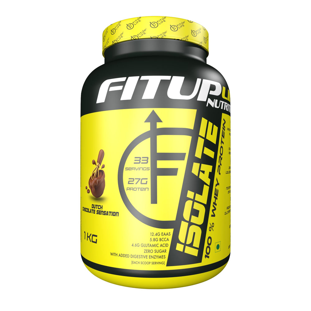 Isolate Whey Protein 1kg (Flavoured) - Fitup Life