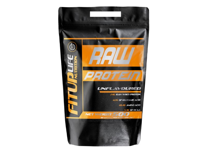 Raw Unflavoured Protein 500g - Fitup Life