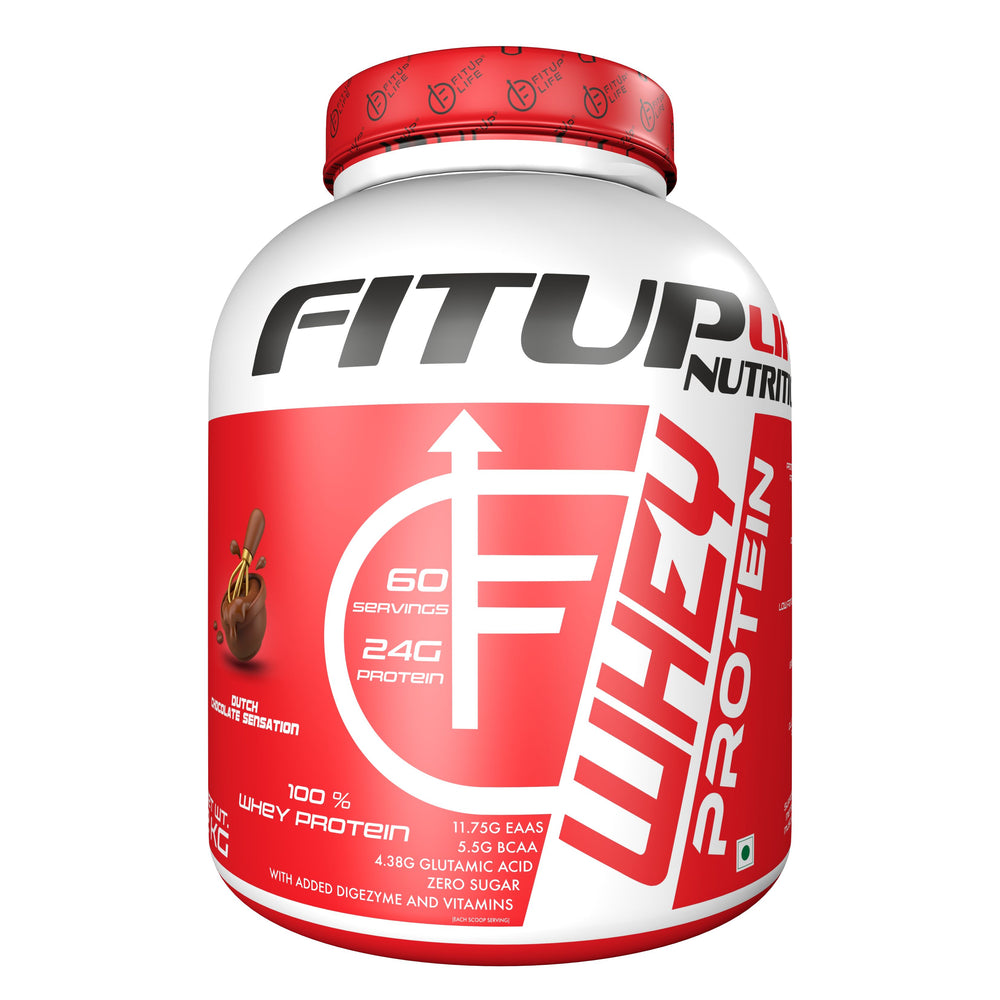 Whey Protein Concentrate 2kg (Flavoured) - Fitup Life