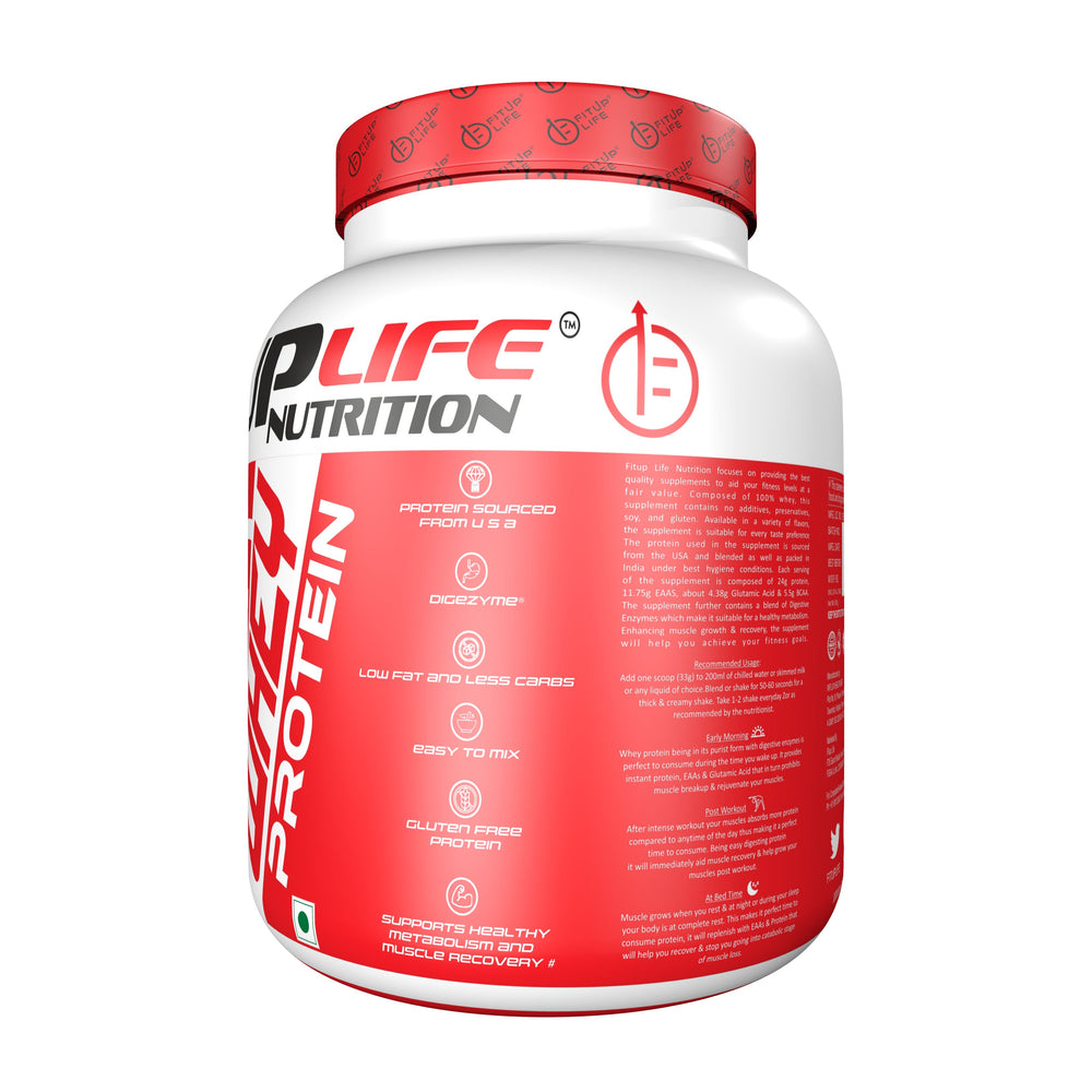 Whey Protein Concentrate 500gm (Flavoured) - Fitup Life