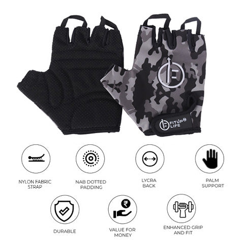 Black Camo Gloves - Fitup Life