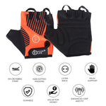 DARK ORANGE GLOVES WITH NAB PADDING