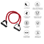 Resistance Toning Tube Red (5x12x1200 mm) (Heavy Strength)