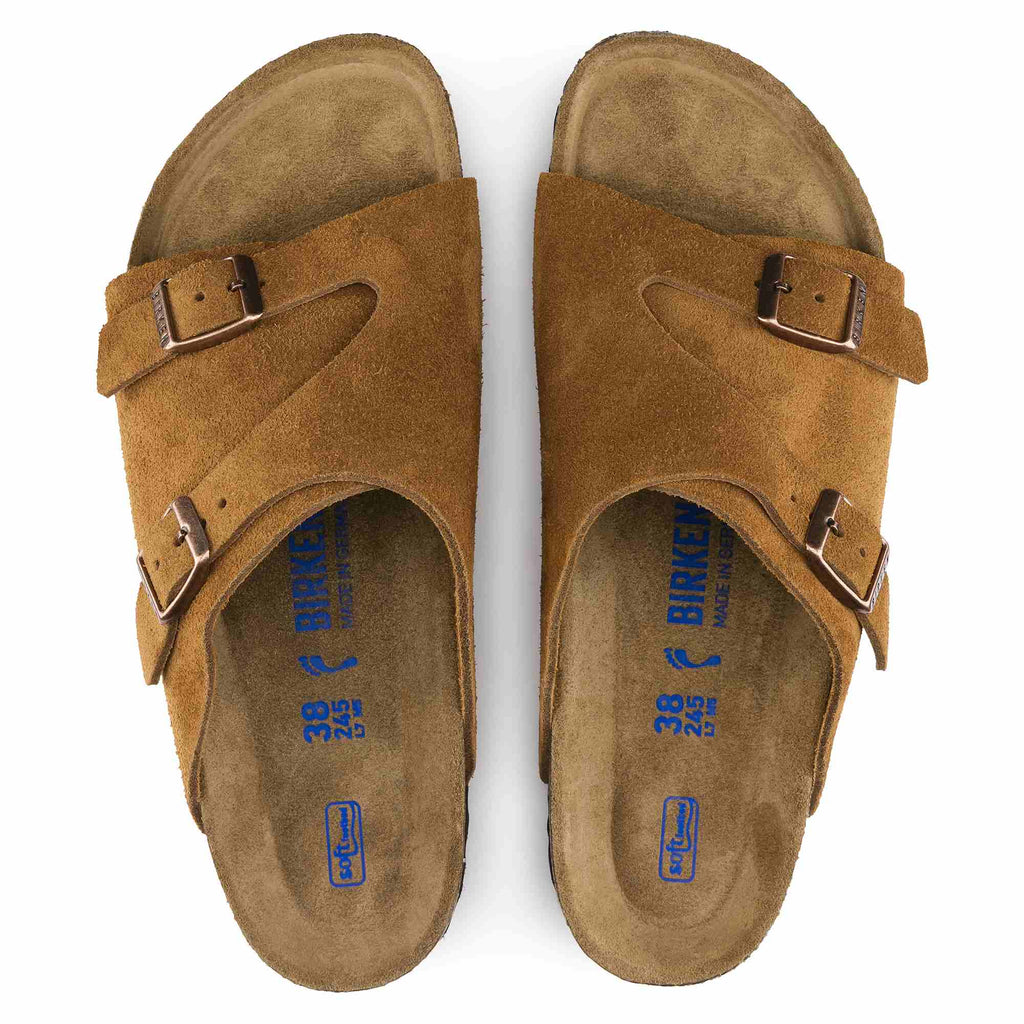 Zurich Suede Leather Soft Footbed
