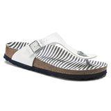 Birko-Flor Patent Nautical Stripes White