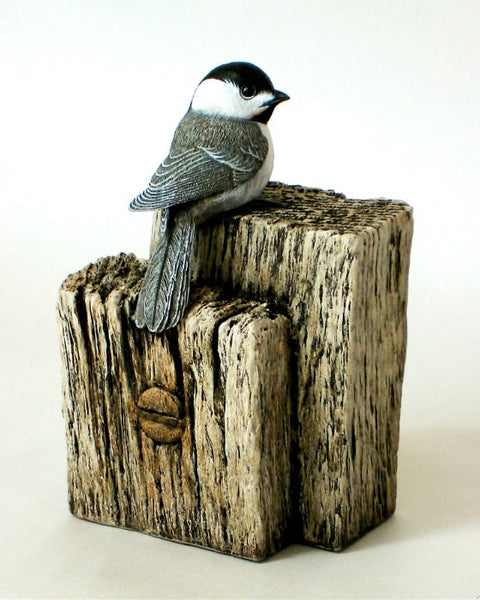 Black-capped Chickadee Post and Beam
