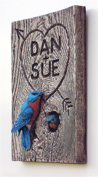 Eastern Bluebird Pair Personalized