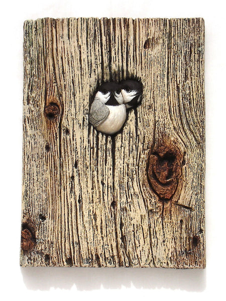 "Black-capped Chickadee ""Greetings"""