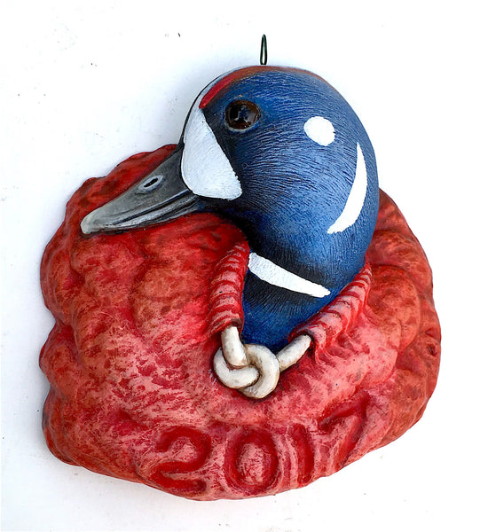 Harlequin Duck 2017 Christmas Tree Ornament