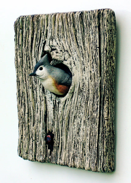 Tufted Titmouse Sculpture
