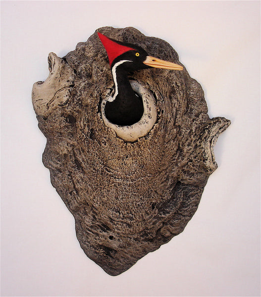 Ivory-billed Woodpecker Sculpture