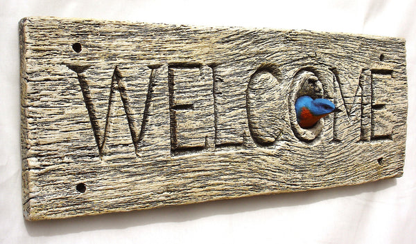 "Eastern Bluebird ""Welcome"""