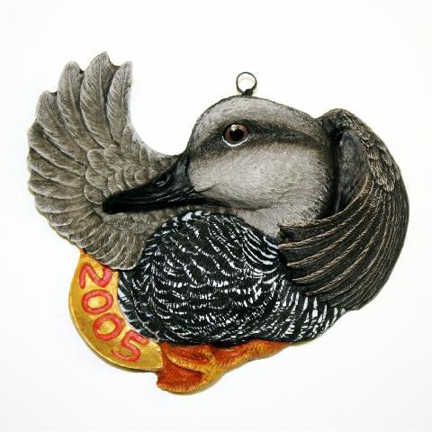 Gadwall Duck Christmas Tree Ornament
