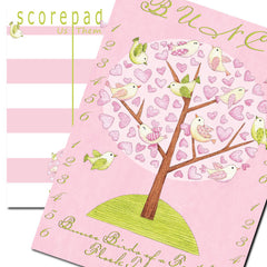 Bunco scorecard - Birds of a Feather Bunco