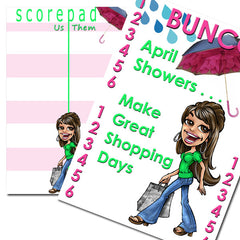 Bunco Scorecard - April Showers