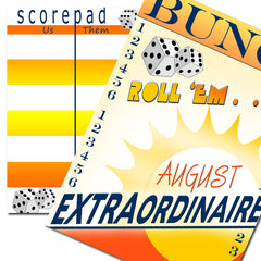 Bunco scorecards - August Extraordinaire