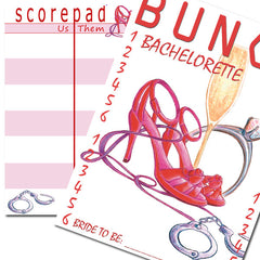 Bunco Scorecard - Bachelorette Bunco