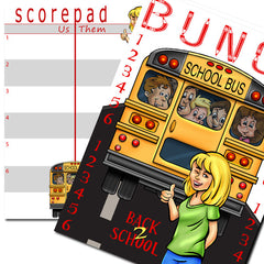 Bunco Scorecard - Back to School