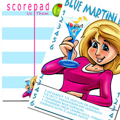 Bunco Scorecards - Blue Martini Madness