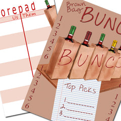 Bunco Scorecard - Brown Bag Bunco