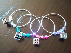 Bunco Dice Wine Charms 1