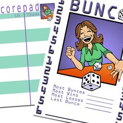 Bunco Scorecards - Roll 'em (personalized)