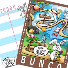 Bunco Scorecards - Easter Egg Hunt