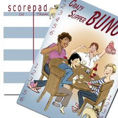 Bunco scorecard - Crazy Slippers