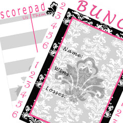 Bunco Scorecards - Damask