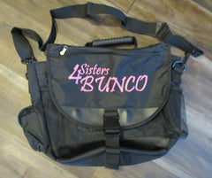 Bunco Bag - Text:  4 Sisters BUNCO