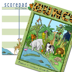 Bunco Scorecards - Jungle Bunco