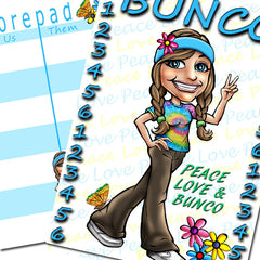 Bunco Scorecards - Peace & Love