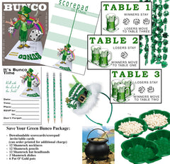 Ultimate St. Patrick's Bunco Package