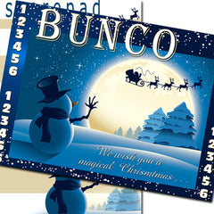 Bunco Scorecards - Snowman & Santa